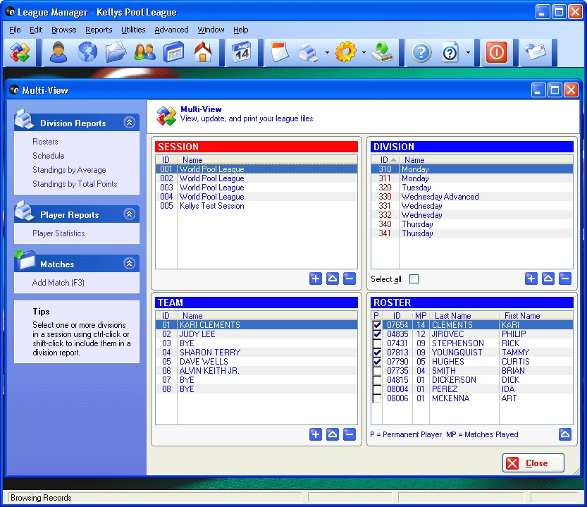 Click to view League Manager 1.4.4 screenshot